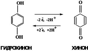 Система гидрохинон-хинон