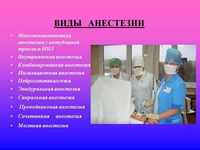 Анестезия. Подготовка пациента к наркозу. Профилактика осложнений