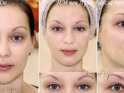 Перманентный макияж верхних век межресничное пространство