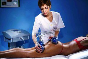 Проведение вакуумного массажа тела